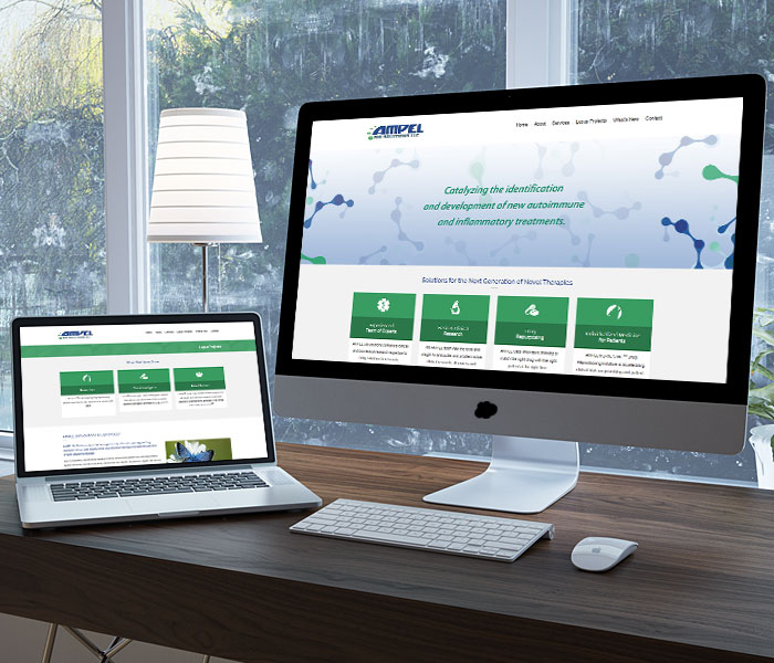 AMPEL BioSolutions Website Design