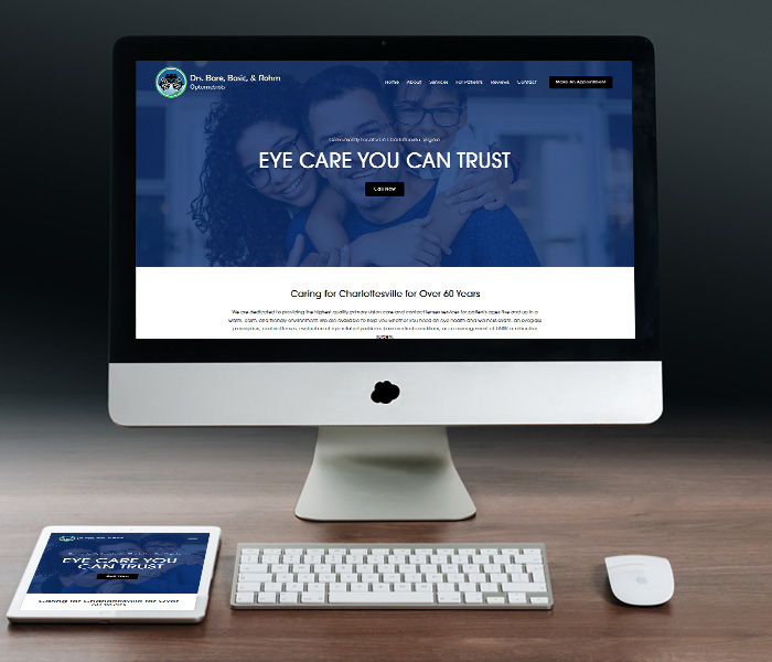 Drs. Bare, Basic, & Rohm Optometrists Website Design