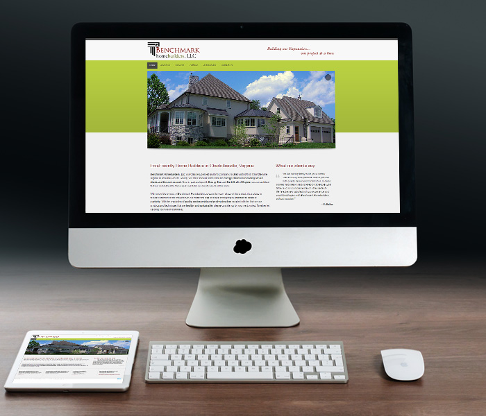 Benchmark Homebuilders Website Design