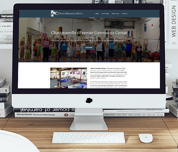 Classics Gymnastics Center Website Design