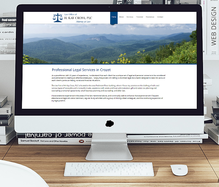 H. Kay Cross, Attorney Website Design