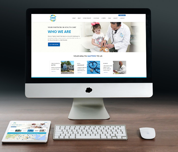 Central Virginia Health Services Website Design