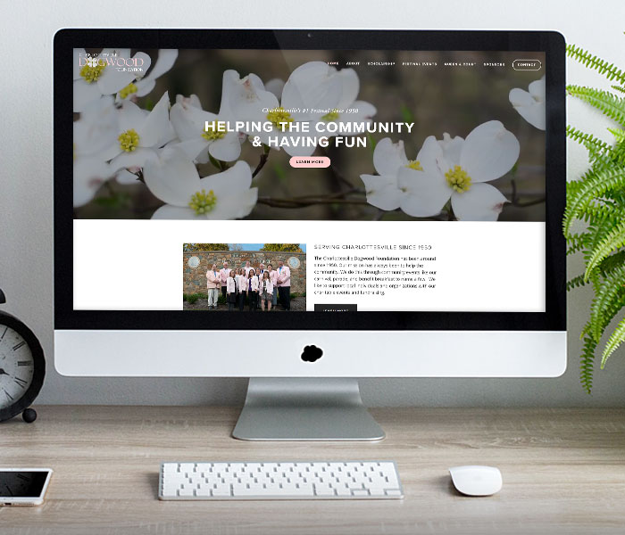 Charlottesville Dogwood Foundation Website Design