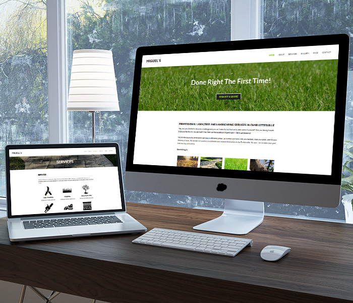 Miguel's Lawn Tree & Landscaping Website Design