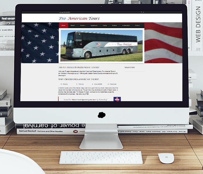Pro-American Tours Website Design