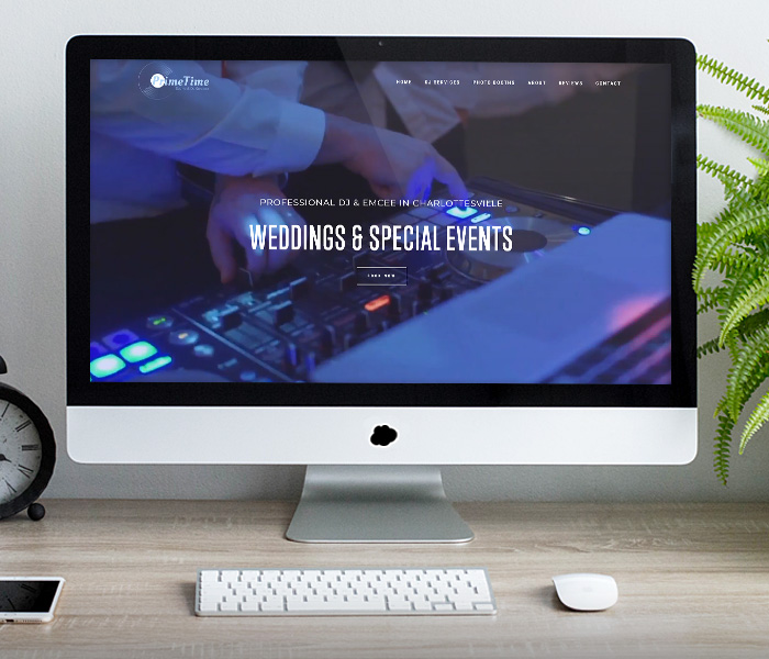 Prime Time Sound & DJ Service Website Design