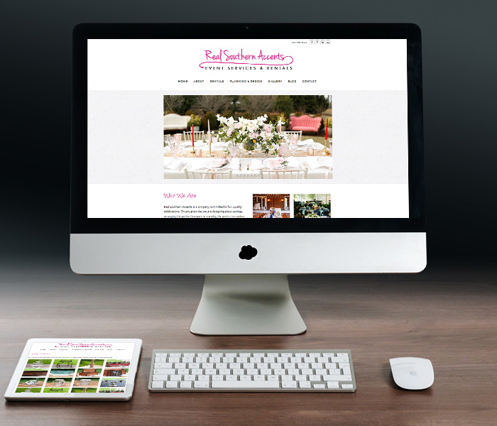 Real Southern Accents Website Design