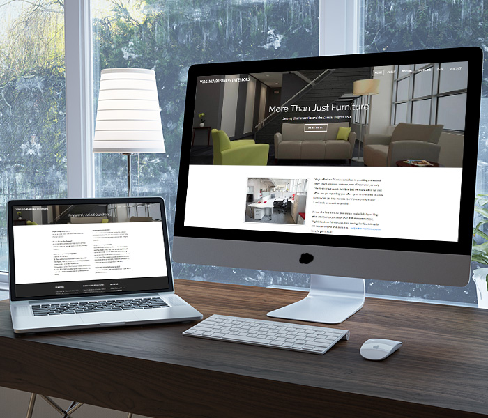 Virginia Business Interiors Website Design