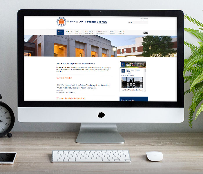 Virginia Law & Business Review Website Design